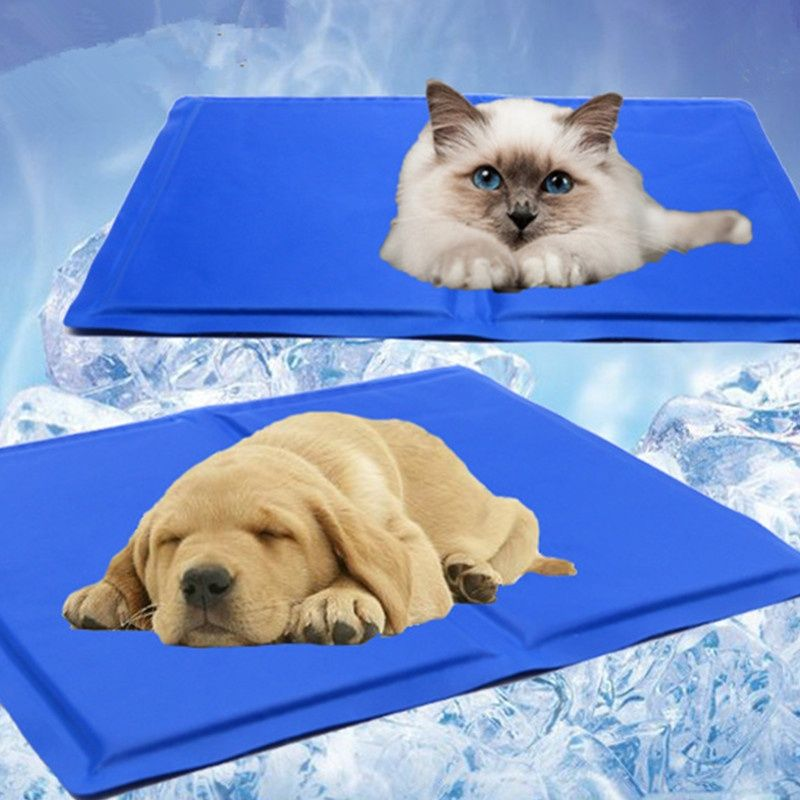 Pet Dog Cooling Mat Pad Cat Puppy Self Cool Gel Bed Summer Non Toxic Heat Relief