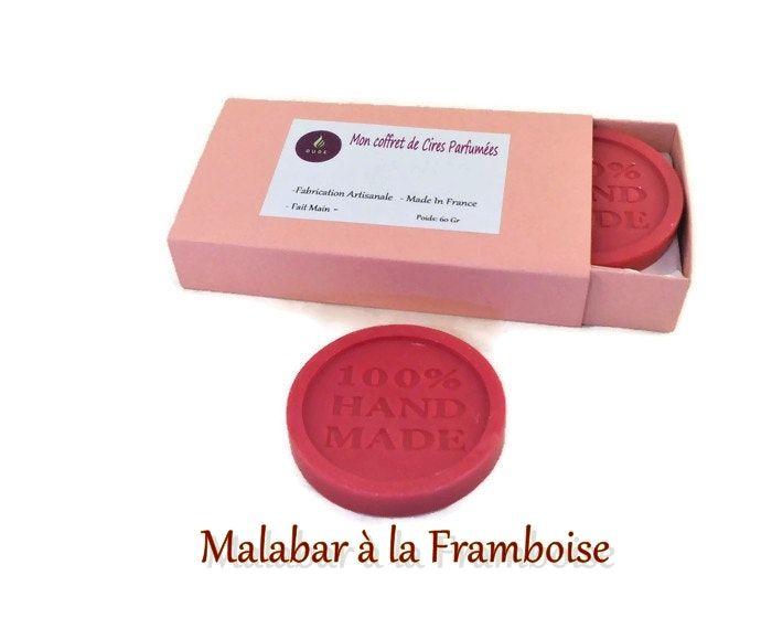 Coffret Cadeau Cire Parfumee Malabar A La Framboise X 4 Fete