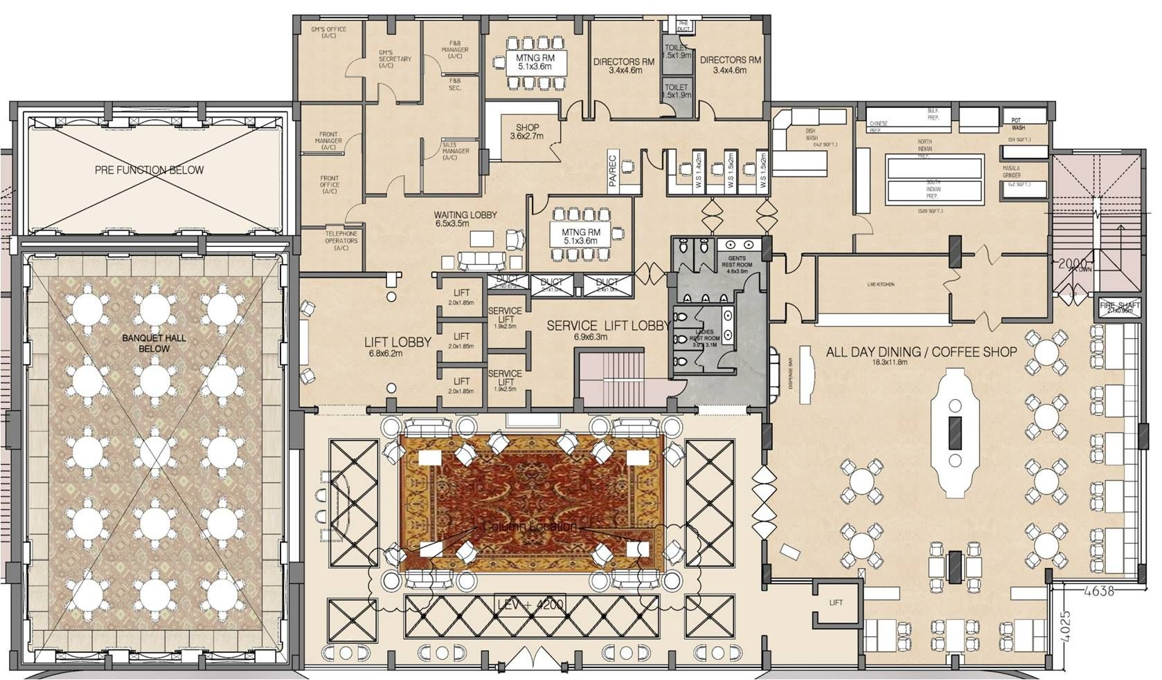 Hotel Restaurant Floor Plan - Google Search