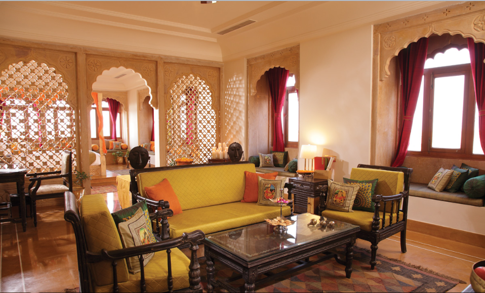 Suryagarh Fort Royal Palace & Hotel Living Room, Jaisalmer