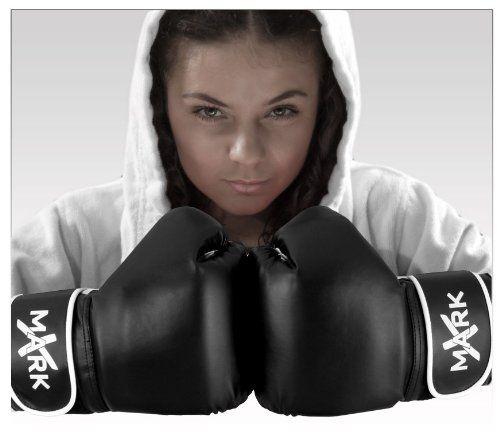 XMark Fitness Boxing Gloves BlackWhite Medium ** Check Out