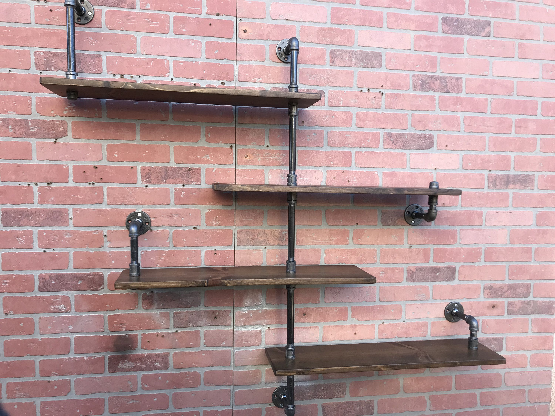 Industrial Shelf, Pipe Shelf, Shelves, Rustic Kitchen Bathroom Closet Open