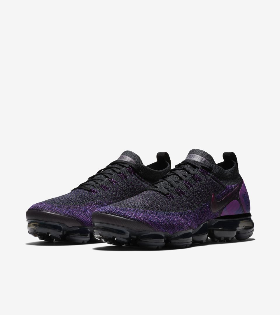 sports shoes bb891 8f36f Nike Air Vapormax Flyknit 2 'Black & Vivid Purple & Night ...