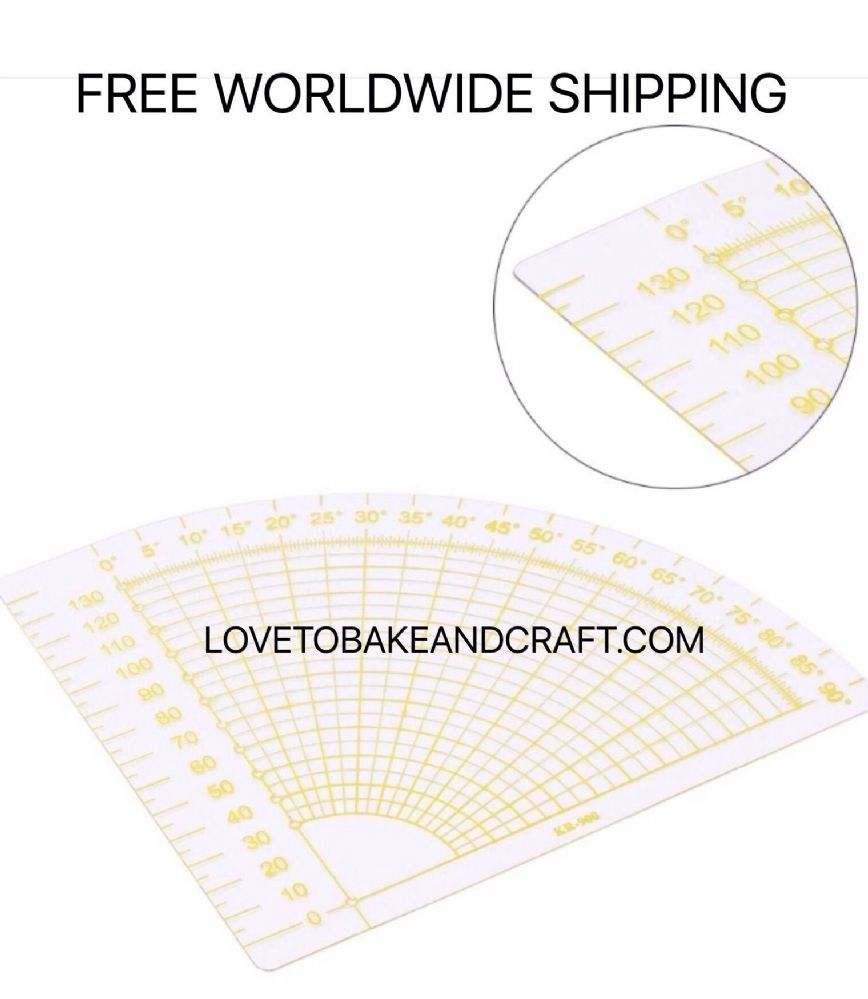 Quilting ruler Patchwork tools Quarter circle patchwork sewing ruler ...