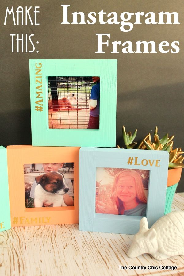 Diy Picture Frames To Make Can Do Pinners Diy Diy Craft