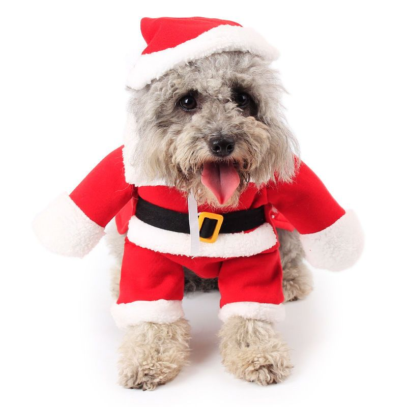 8 98 Aud Pet Dog Cat Santa Claus Costume Suit Clothes Costumes