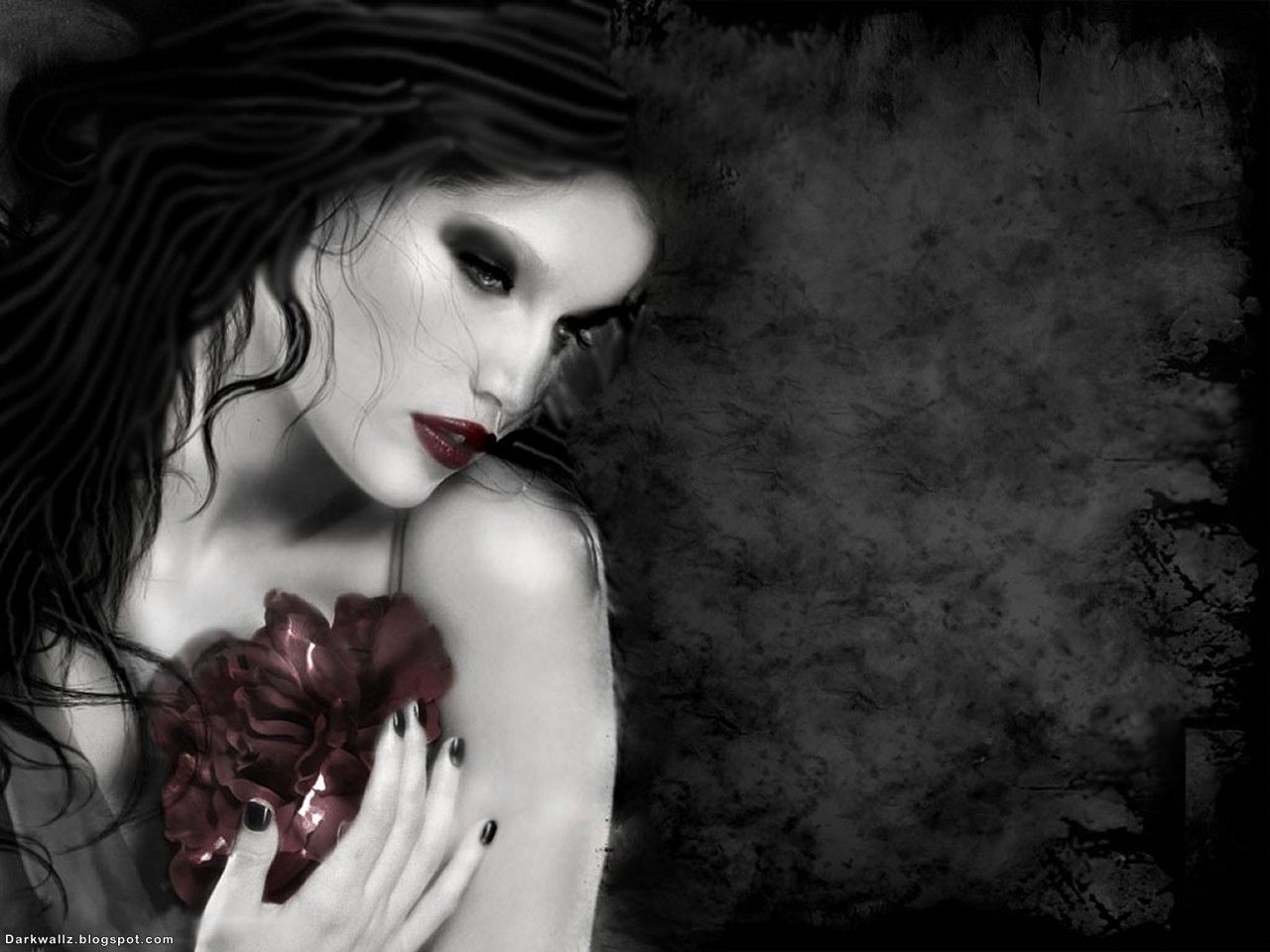 gothic wallpaper fantasy girl | dainty gothic girl dark gothic
