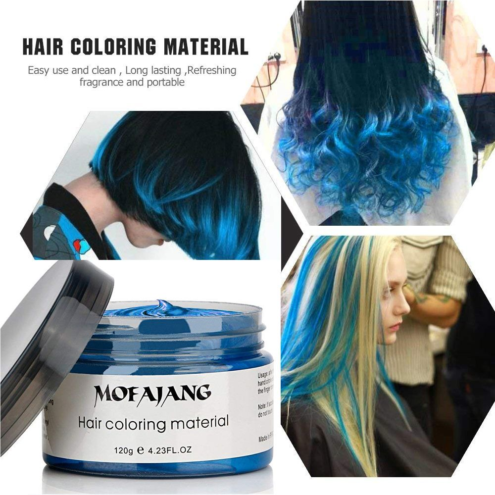 Hair Wax Temporary Hair Coloring Styling Cream Mud Dye Gray