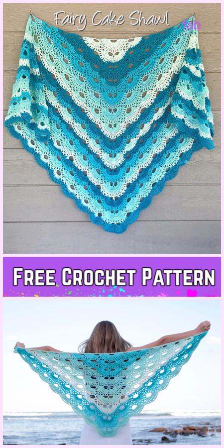 Virus Shawl Free Crochet Pattern for Ladies-Video Tutorial