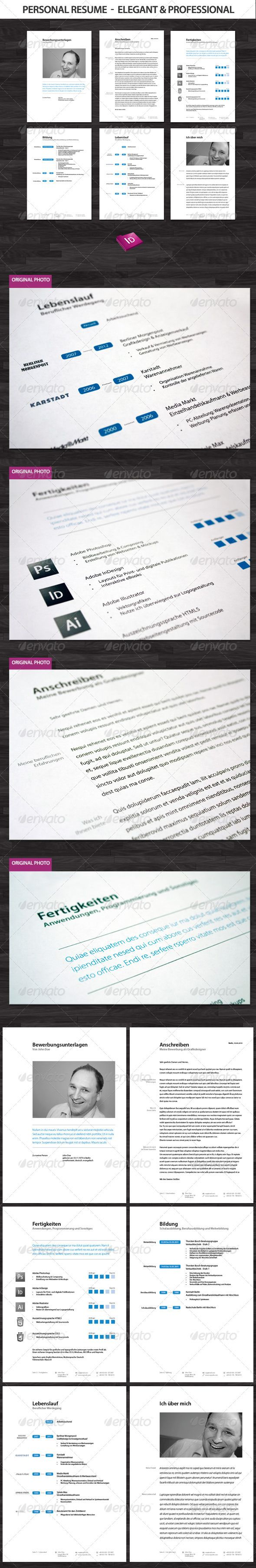 professional and elegant resume set
