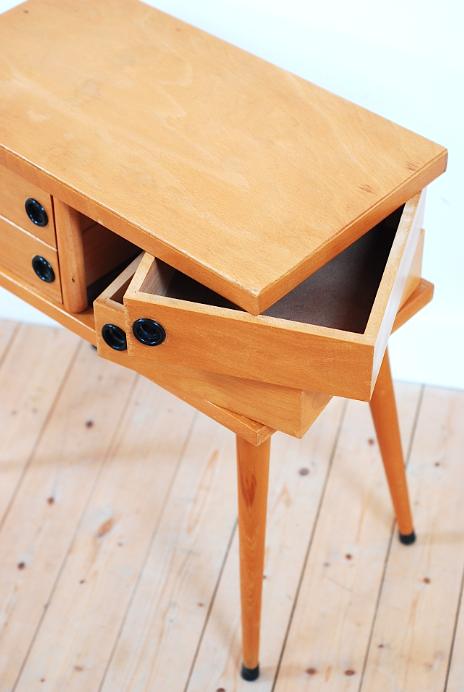 travailleuse bois ann es 60 vintage lucinevintage mobilier vintage pinterest. Black Bedroom Furniture Sets. Home Design Ideas