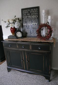 Black Distressed Buffetthis Looks Just Like My Tv Stand End Tables