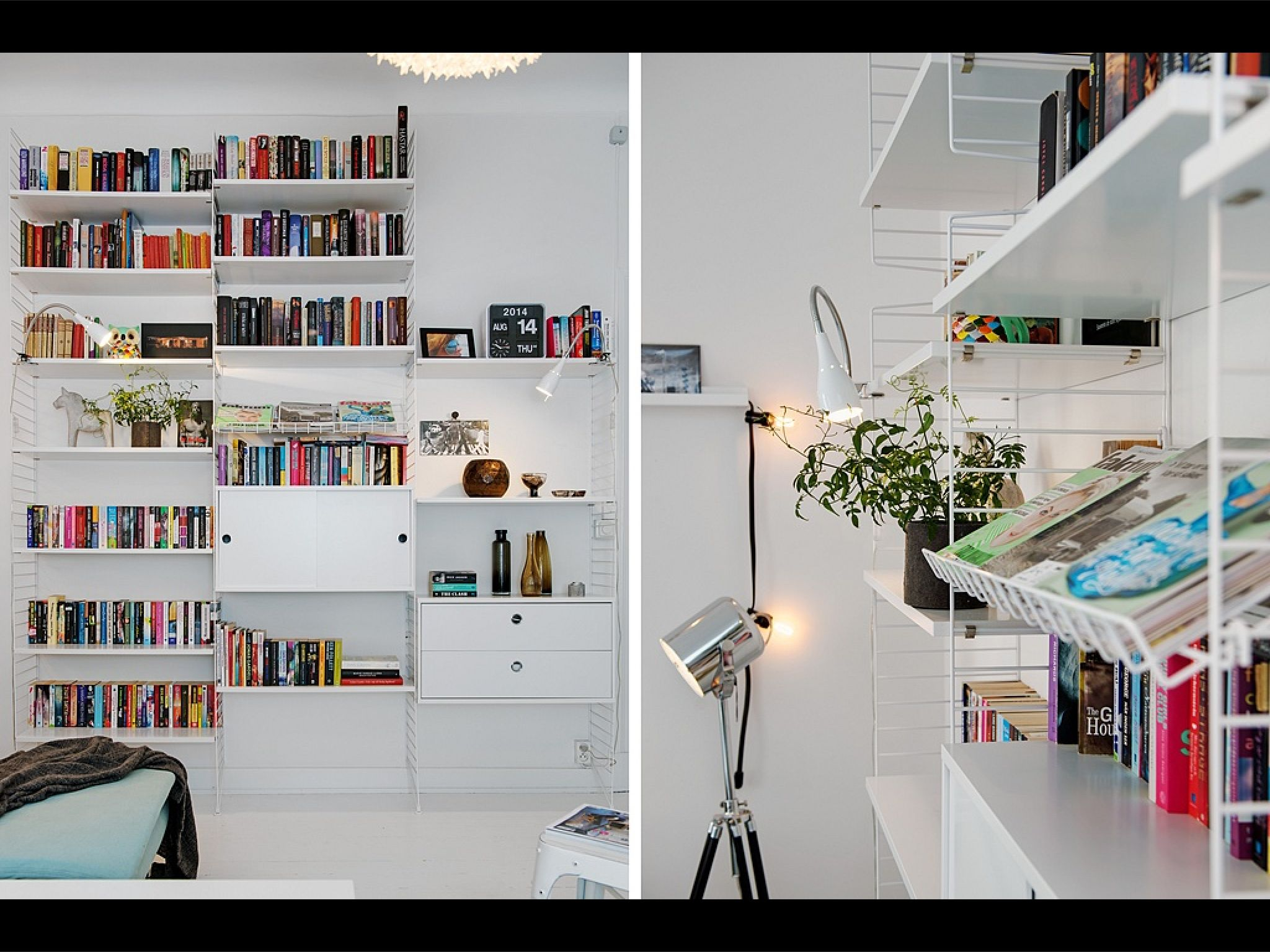 Förvaring vardagsrum stringhylla Livingroom Pinterest Vardagsrum, Hus och Inredning