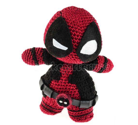 Chibi Deadpool Amigurumi Doll (FINISHED PRODUCT) | Pinterest
