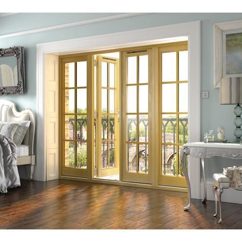 Wickes Albery Georgian Bar Solid Oak Laminate French Doors 7ft With