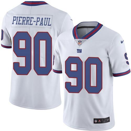mens new york giants jason pierre paul white 2016 color rush stitched nfl nike limited jersey