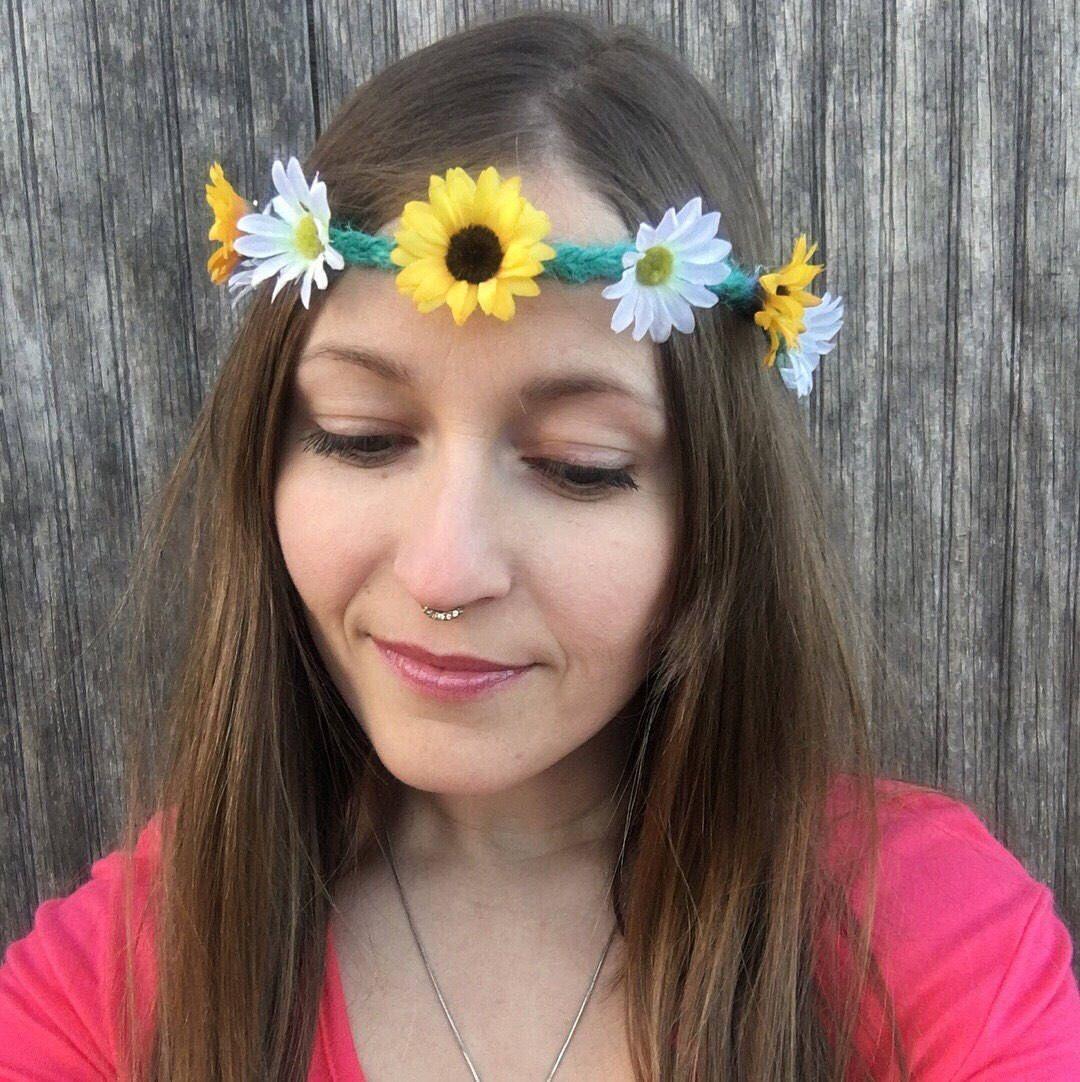 Flower Crown Daisy Flower Crown Sunflower Crown Flower Headband