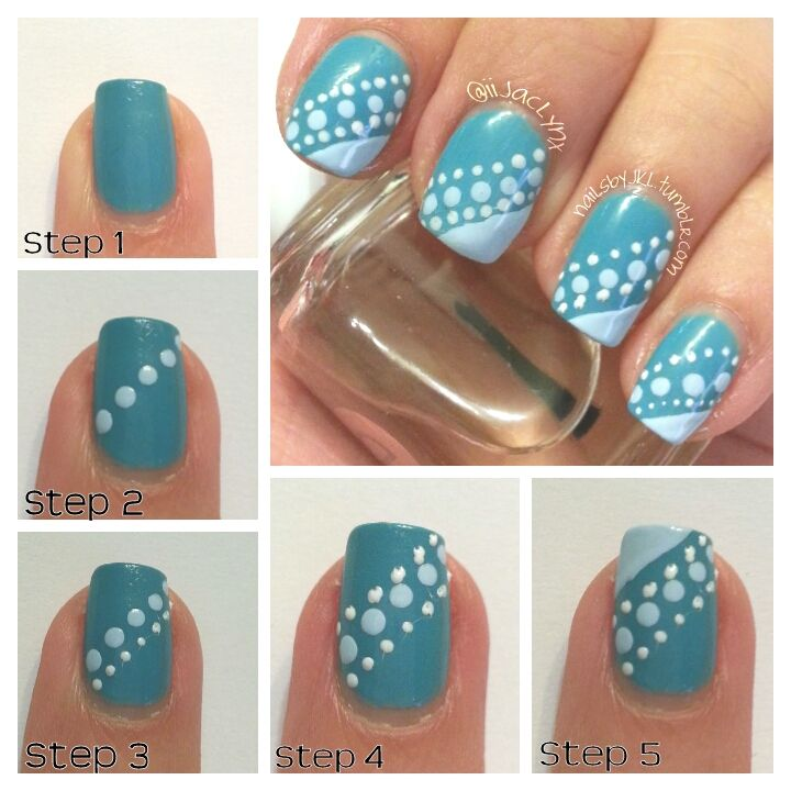 Simple nail art using 3 different polish shades and dotting tools simple dot french manicure by nailsbyjkl prinsesfo Image collections