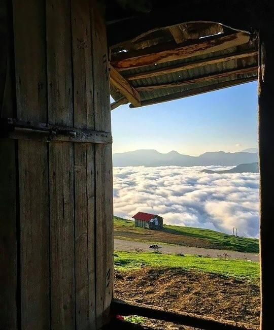 Over the clouds in Gilan Province Iran