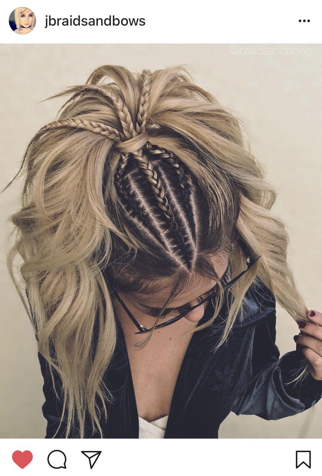 Jbraidsandbows Braided Pony Hair Inspiration Curly Hair