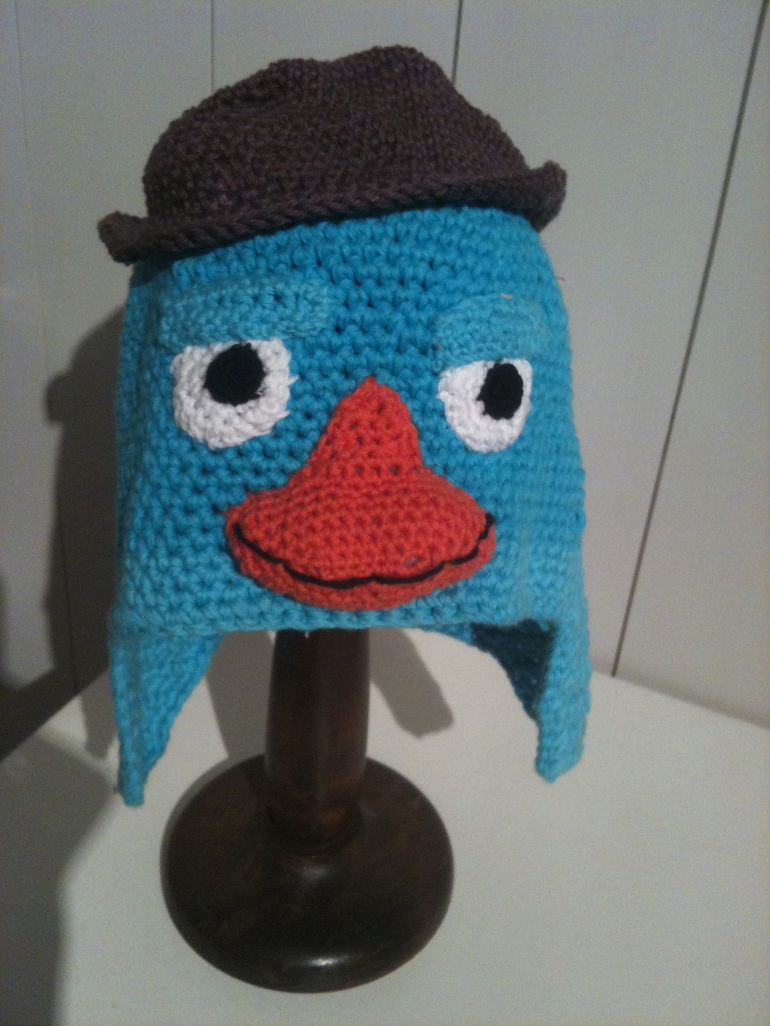 Perry the platypus  crochet hat