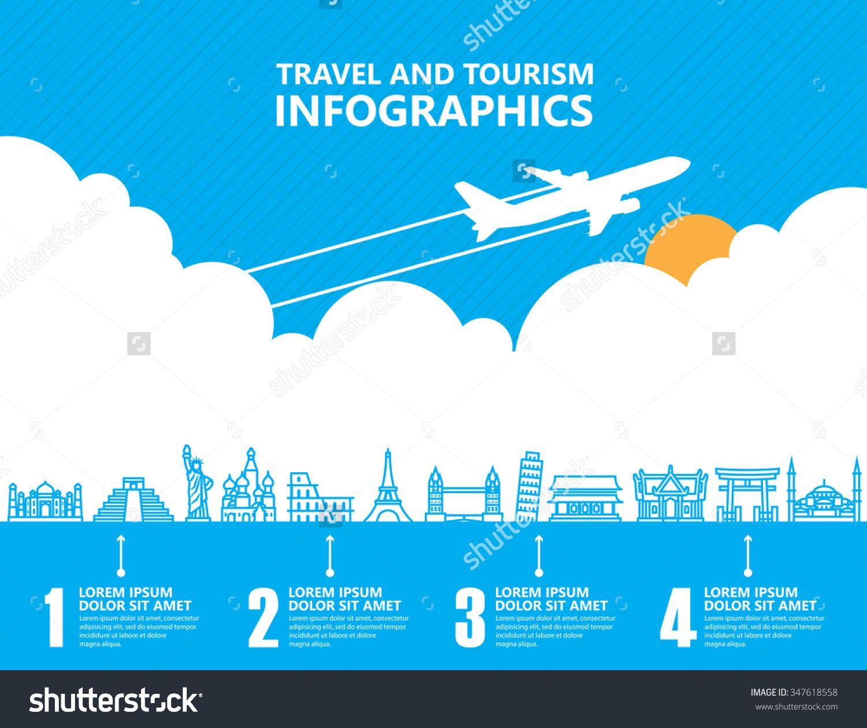 Travel Infographics, Landmark And Transport Ilustración vectorial en stock 347618558 : Shutterstock