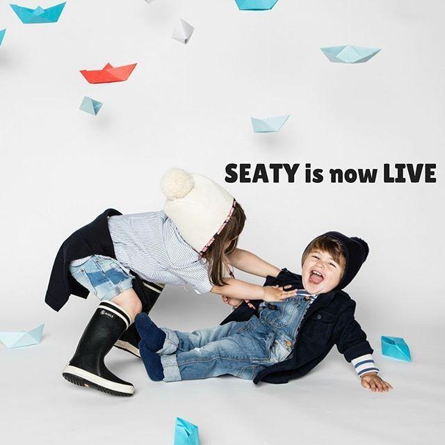 SEATY collection in collaboration with @bertilleetleon is now live !! // SEATY, la collection en collaboration avec Bertille & Léon est maintenant en ligne 😄 📷@robincerutti  #kids #kidsstyle #kidsfashion #bonnet