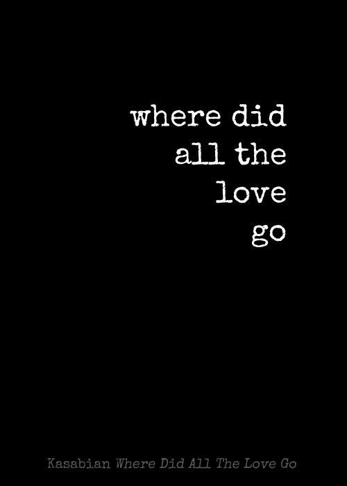 where did my love go lyrics