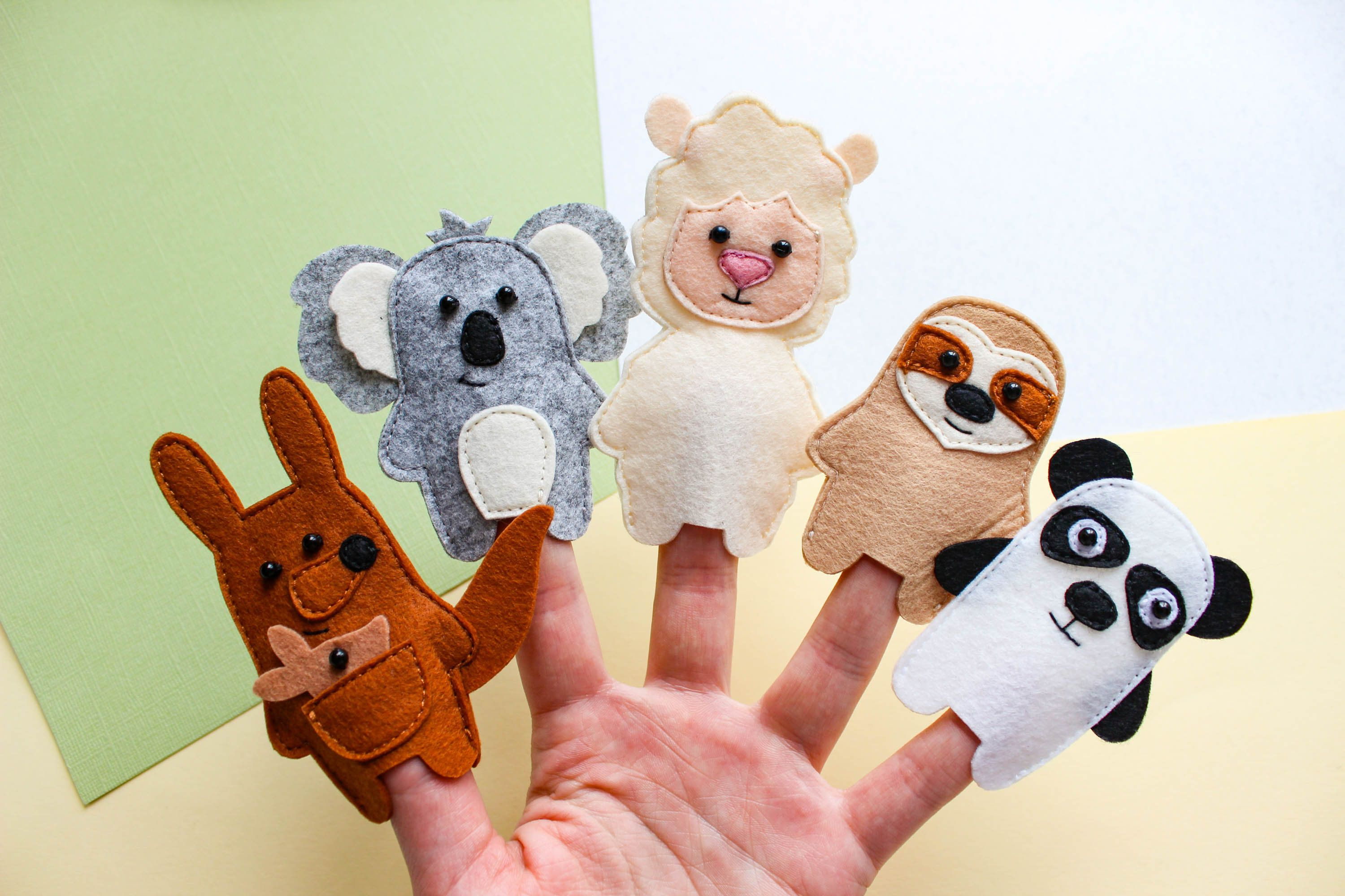 Animals Finger Puppets Lama Felt Toy Felt Finger Puppets