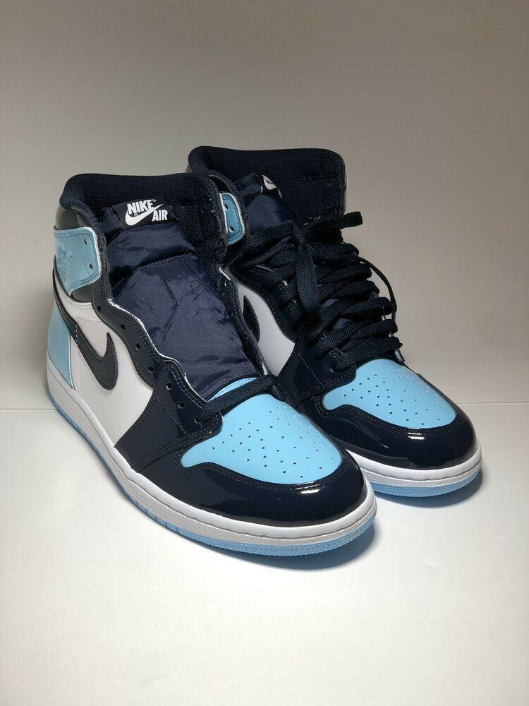 66ef4edbcfb8d Nike Air Jordan 1 Retro High Blue Chill UNC Patent Leather SZ 10W ...