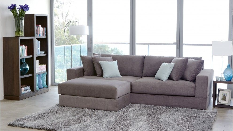 Eastern 4 Seater Fabric Sofa - Lounges - Living Room - Furniture ...
