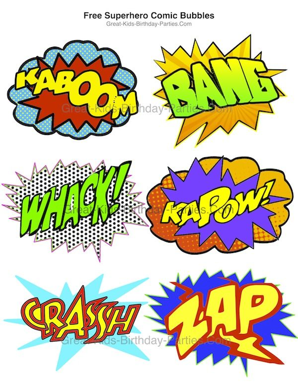 downloadables for superhero theme party free superhero bubbles in