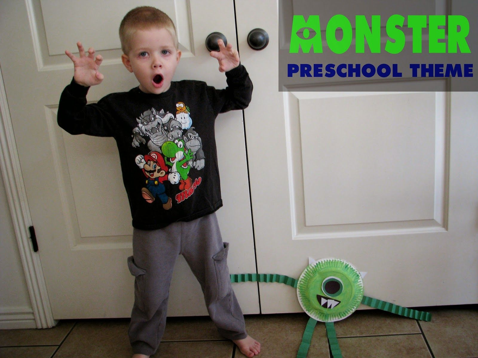 monster preschool theme halloween kid ideas pinterest