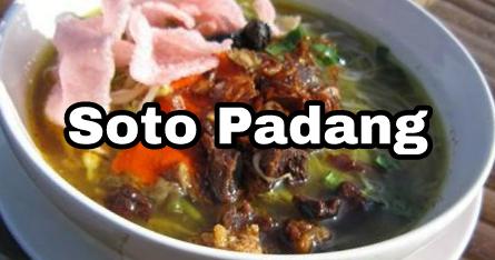 Soto Padang Memiliki Ciri Khas Menggunakan Daging Sapi Yang Digoreng Hingga Kering Dan Renyah Resep Resep Masakan Resep Masakan Indonesia