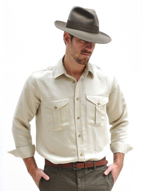 Safari Shirt Cognac Heels: Pin By James Stewart On I'd Wear This