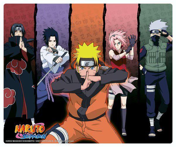 Tapis de souris Naruto Shippuden personnages ninjas - 6,99