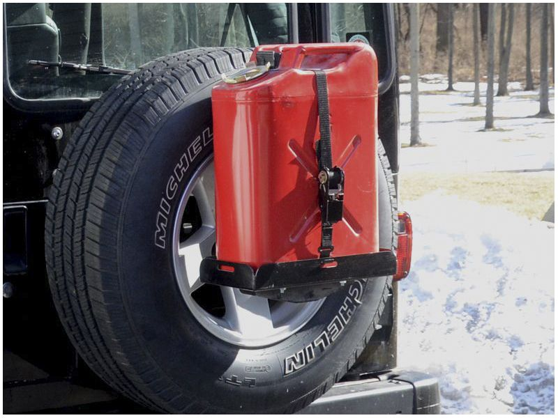 Spare Tire Jerry Can Holder w/ Short Tray Jerry can
