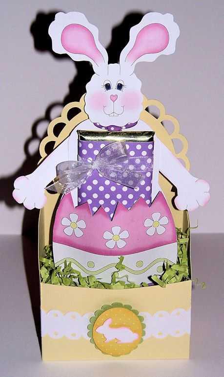 Bunny Candy Bar / Utensil Holder and Basket