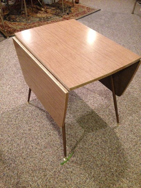 Vintage Retro 1960 S 70 Wood Grain Formica Drop Leaf Kitchenette Dinette Table