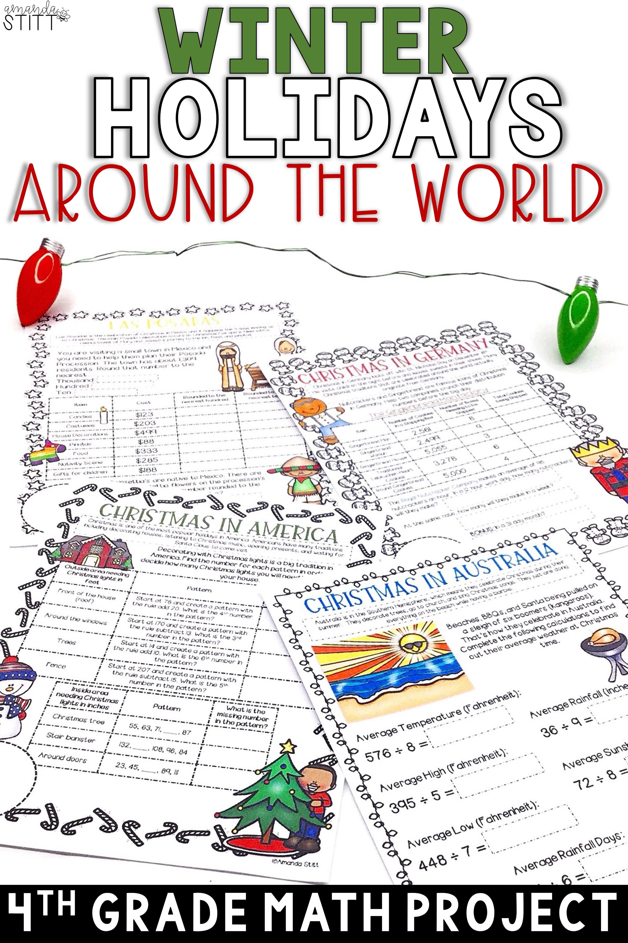 Winter Holidays Around The World Math