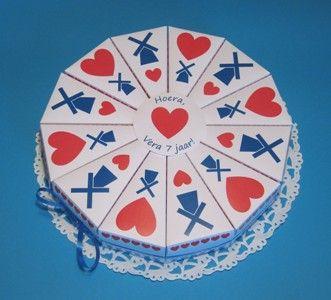 holland taart traktatie kartonnen taart Holland | Traktatie verjaardag  holland taart