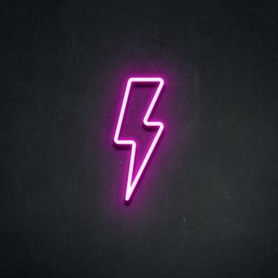 'Lightning Strike' LED Neon Sign