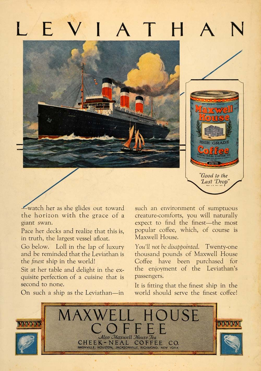 Vintage Maxwell House Coffee Ad Old ads, Vintage