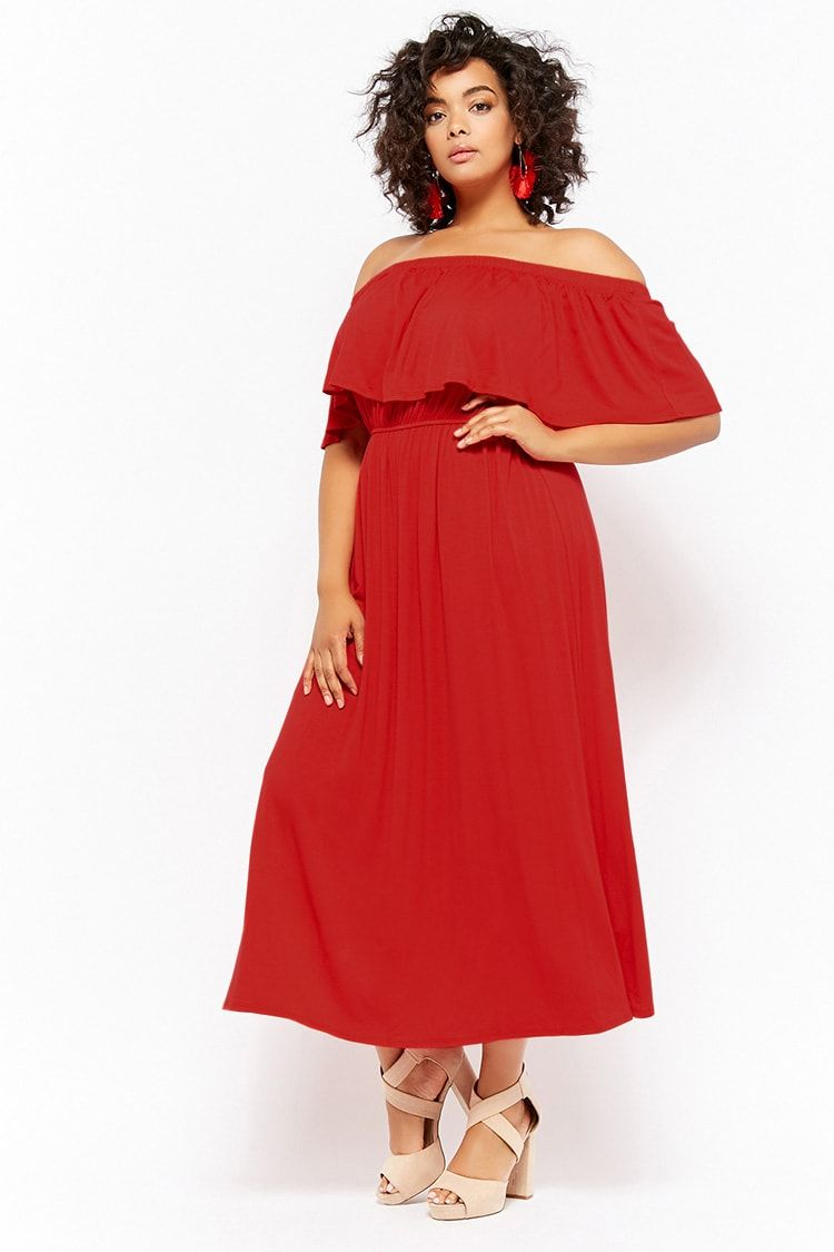 6ae99112316 Product Name Plus Size Off-the-Shoulder Flounce Maxi Dress