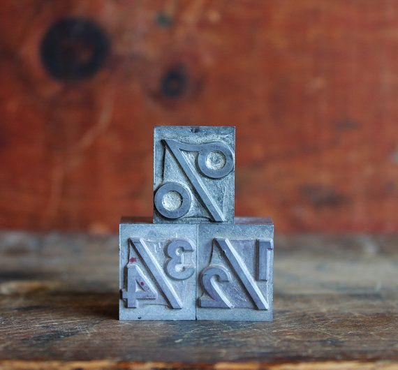 vintage letterpress letters by ReverseChronology