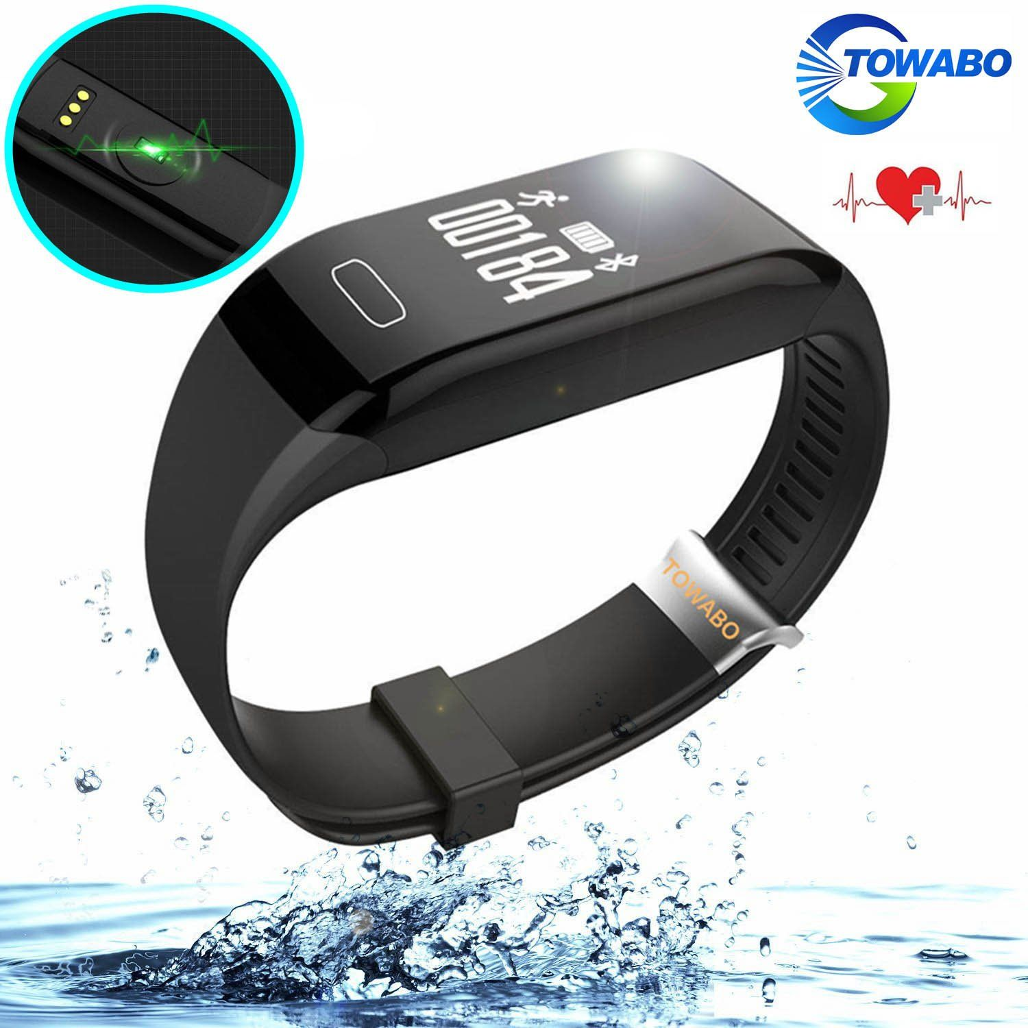 Towabo Fitness Tracker Wristband with Heart Rate monitor