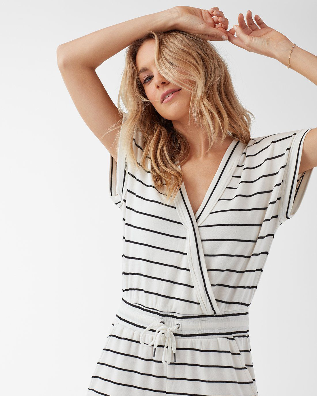 67a055cf Splendid Supersoft Shorts Striped Jumpsuit in 2019 | Here, There ...
