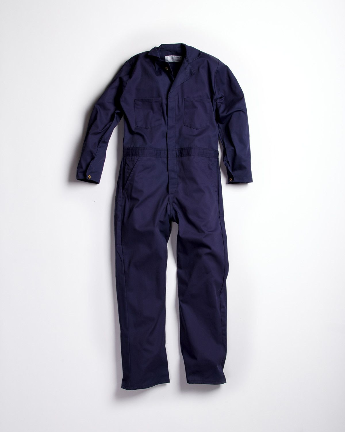 universal cotton coveralls navy blue button work on work coveralls id=64106