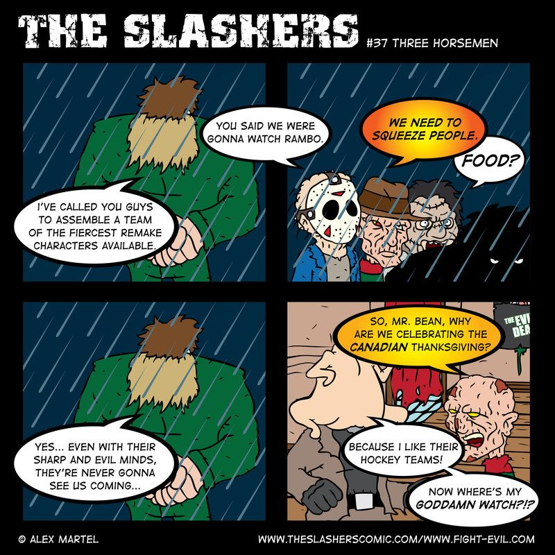 Freddy And Jason The Slashers Comic By Crashdummie On Deviantart Slasher Comics A Nightmare On Elm Street Thanksgiving day turned into a worst nightmare for any turkey. freddy and jason the slashers comic by