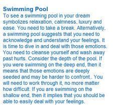 Swimming Pool Dream Interpretation Symbols Dream Meanings Dream Symbols